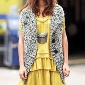 Anthropologie Moth Tweed Sleeveless Sweater Vest
